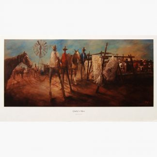 Hugh Sawrey, Quilty's me, 31x14in lithographic print