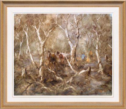 Hugh Sawrey, Along the Neebine, 24x20in giclée print on canvas
